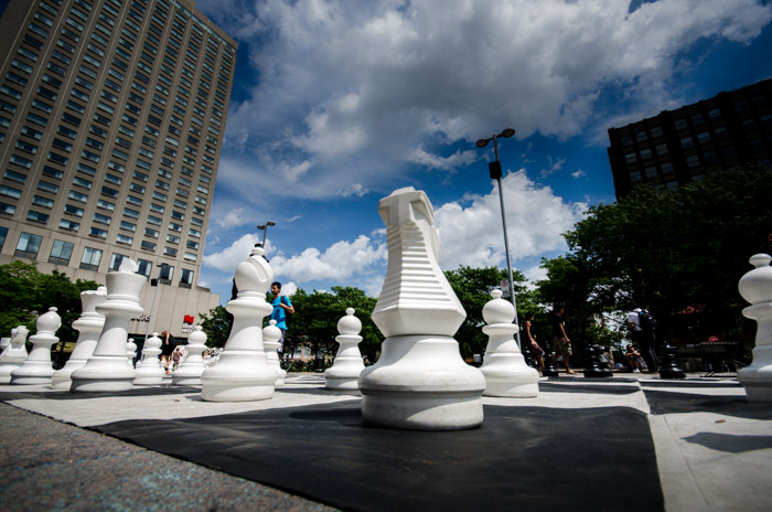 Giant Chess at Place Émilie-Gamelin