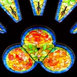 Stained glass side windows