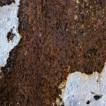 Rust and peeling paint texture
