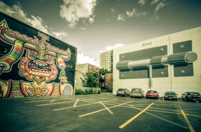 Murals by Chris Dyer and Escif