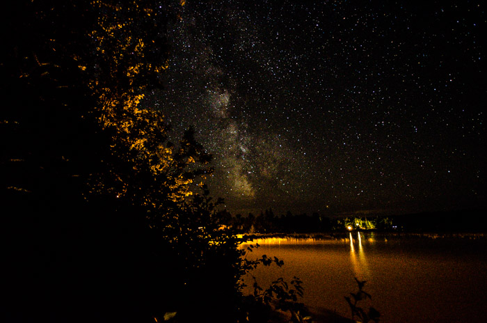An attempt at shooting the Milky Way
