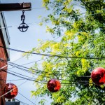 Red disco balls find new life
