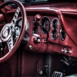 Red car interior