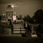 Full moon at the Terrasses Bonsecours