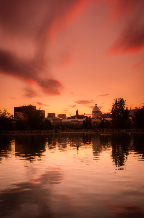 Sunset at the Bonsecours Basin