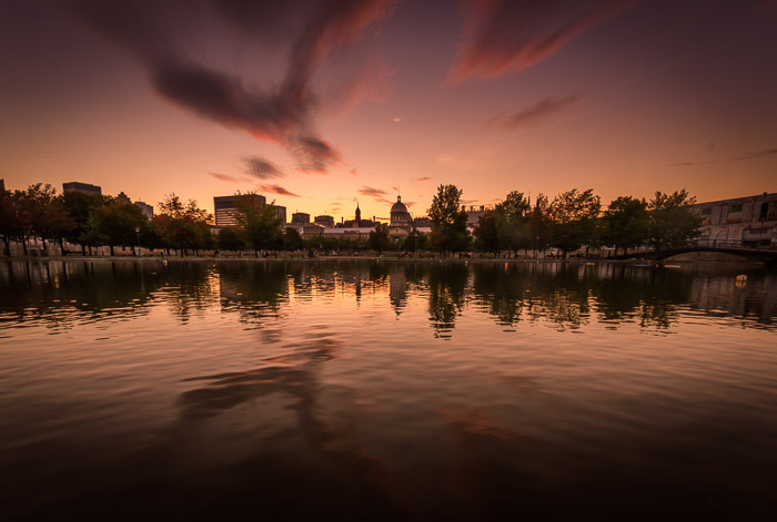 Sunset at Bonsecours Basin
