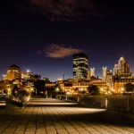 Montreal skyline at night from Quai des Convoyeurs