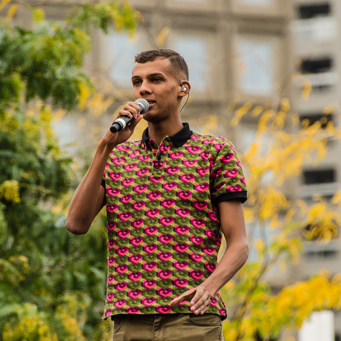 Stromae performs at Quartier des Spectacles