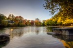 Late afternoon light in Parc La Fontaine