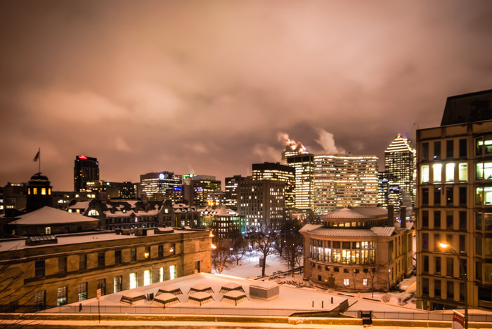 McGill campus and downtown