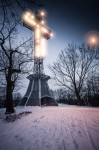 Mount Royal cross with star effect