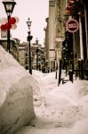 Snow path on rue Saint Paul