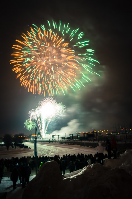 Telus Fire on Ice fireworks in the Old Port
