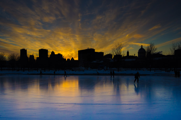 Sunset at Bassin Bonsecours