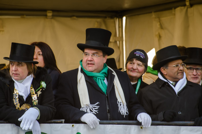 Denis Coderre at the St Patrick's parade
