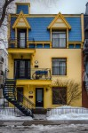 The Yellow and Blue house