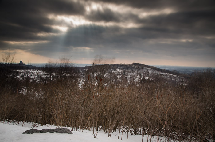 Clouds over Mount Royal