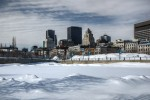 Montreal skyline from Bonsecours Basin