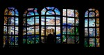 Stained glass windows in City Hall