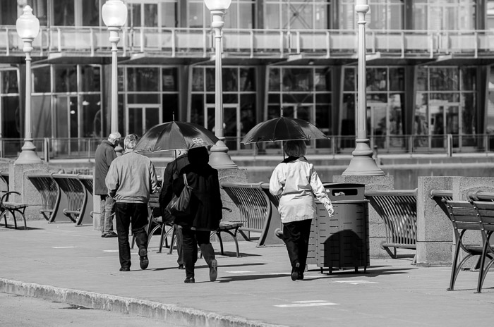 Ladies with umbrellas