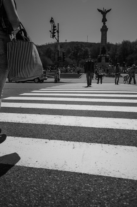 Crossing avenue du Parc