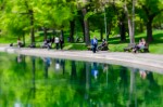 A walk in Parc Lafontaine with paint effect plus blur