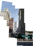 Collage of view toward Place d'Armes
