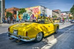 VW Karmann Ghia and mural by Alex Scaner