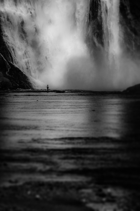 Fishing below the Montmorency Falls