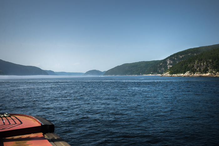 Crossing the Saguenay River by ferry