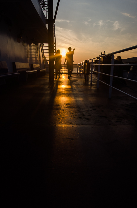 Sunset on the Tadoussac ferry