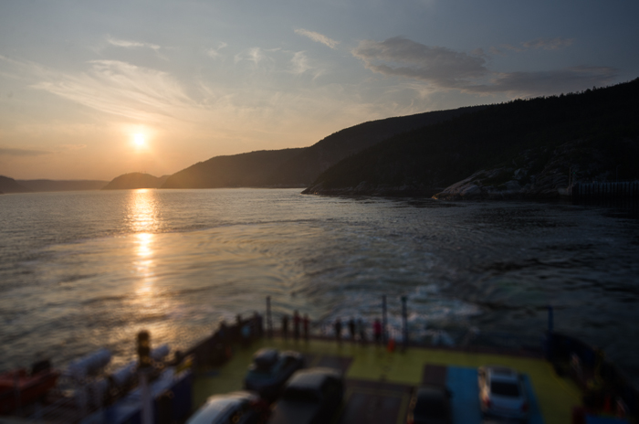 Sunset over the Saguenay river