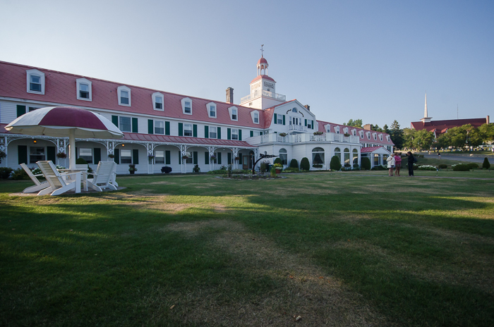 The front of the Tadoussac Hotel