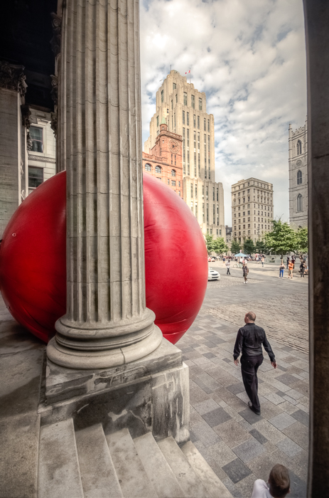 RedBall project at Place d'Armes
