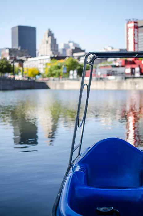 Pedalo at Bassin Bonsecours