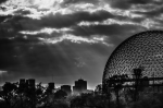Biosphère with Montreal skyline