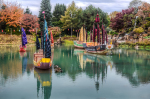 Zheng He's fleet depicted at the Gardens of Light
