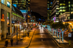 McGill College avenue with festive lights